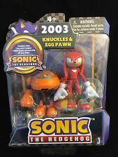 Sonic the Hedgehog KNUCKLES & EGG PAWN Figure SET 20th Anniversary 2003 NIB