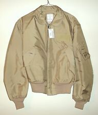 U.S. ARMY ISSUE CWU-36/P TAN FLIGHT JACKET - SIZE XL - NEW WITH CARDBOARD TAGS