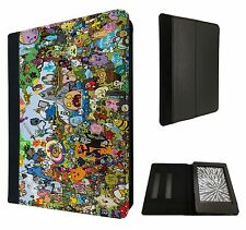 Cool Funky ADVENTURE TIME CARTOON DIVERTENTE Custodia Flip Cover per Kindle Paperwhite 6""