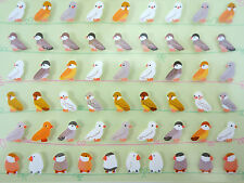 Korean tiny bird stickers - kawaii small finches sitting on a wire! So cute!