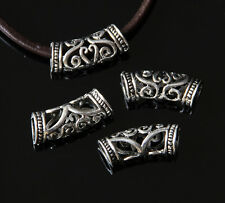 2Pcs Tibetan Silver Hollow Hole Spacer beads Finding Fit Euro Chain 25x8mm #1