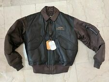 Breitling FLYING PILOT Bomber LEATHER jacket LARGE ALPHA INDUSTRIES Brown NEW