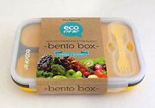 ECO One Bento Lunch Box 3 Compartment Large Expandable Base NEW YELLOW