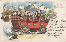 1906 PABST WI Seeing Milwaukee Beer Tour Humor Adapted from Puck, Kropp No.1421