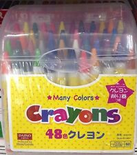 DAISO JAPAN Crayon 48 colors Box with Crayon sharpener for kids