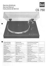 Dual Service Manual für CS 750