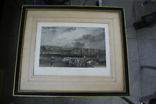 WALTON ON THAMES BIG VICTORIAN ENGRAVING  IN MOUNT FRAME NO GLASS  NICE GIFT ?