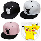 Pokemon Go Hats Pocket Monster Pikachu Mens Womens Cosplay Snapback Baseball Cap