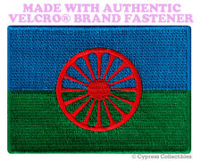 ROMANI GYPSY FLAG PATCH EUROPE EMBROIDERED SOUVENIR w/ VELCRO® Brand Fastener