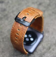 Orange Replacement Leather Watch Straps Bands for Apple Watch Series 1 & 2 42mm