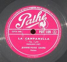 Liszt  Rêve d'amour - La Campanella Jeanne-Marie Darré 78 trs / 78 RPM   NM