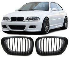 2 GRILLE DE CALANDRE NOIR BMW E46 SERIE 3 COUPE ET M3 PHASE 1 DE 99 A 04/2003