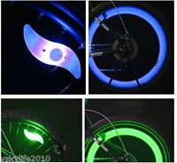 2 LED Bicycle Spoke Wheel Safety Light Cycling Push Bike BMX Mountain Bike Sport