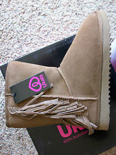 NEW UKALA SHERPA LINED SUEDE BOOTS WOMENS 10 STYLE; ELLIE LOW CHESTNUT