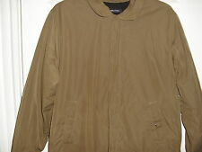 NAUTICA BROWN BOMBER BARRACUDA FLEECE LINED JACKET SIZE LARGE