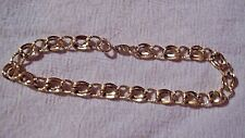"""Vintage 80s 14k Yellow Gold 6mm Textured Link Bracelet ~ 7"""" inch  3.7 g ~ ITALY"""