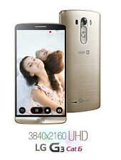 "5.5"" LG G3 Cat.6 F460 32GB 13MP 4G LTE 3GB RAM GPS Libre TELEFONO MOVIL Oro Gold"