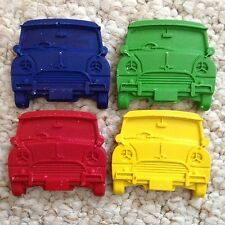 Classic Mini Cooper Wax Crayons x 4 *Kids Party Bag Stocking Fillers Favours*