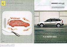 PUBLICITE ADVERTISING 065  2004  RENAULT MEGANE  ( 2p)  1.9dci