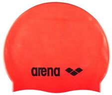 Arena Classic Silicone Fluo Red Swimming Cap. Arena Swimming Hats.Swimming Caps