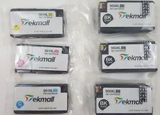 New Sealed Tekmall 6 Pack (1set+2Blk) HP 950XL 951XL High Yield Ink Cartridges