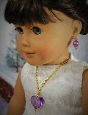 For American Girl Doll Jewelry, Necklace and Earrings, Clothes, 18 in Dolls,