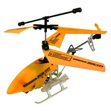 Series 3CH-777 7.5-Inch Tactical Wireless Indoor RC Gyro Helicopter, Neon Orang