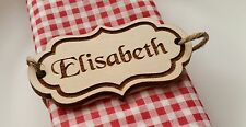 10x personalised wooden name tags place cards rustic wedding laser cut