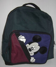 """17"""" FOREST GREEN BLUE MAROON MICKEY MOUSE {MICKEY UNLIMITED} BOOK BAG BACKPACK"""