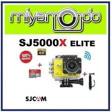 SJCAM SJ5000X WiFi Action Camera (Yellow) + Monopod + Sandisk Ultra microSD 32GB