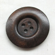 30pcs 40mm Brown Round Wood Buttons 4 Holes Craft Sewing Button