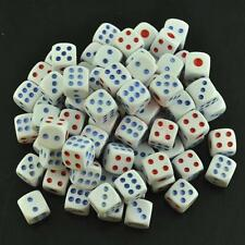 50 X White Dice Wholesale Lot Bulk 13mm D6 Gaming Set Six Sided Die Small