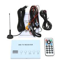 Mini Car DVD TV Receiver Analog Tuner Monitor Strong Signal Box with Antenna 12V