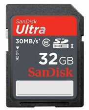 32GB SanDisk Ultra SDHC SD Card Class 10 30MB/S UHS-I Memory Card For Cameras