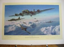 Schweinfurt 2nd Mission B-17 Flying Fortress Robert Taylor Signed Aviation Art