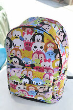 "disney tsum tsum mickey minnie canvas 15"" backpack packsack travelling bag 2016"