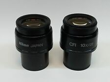 Pair of Nikon CFI 10X/22 Microscope Eyepieces