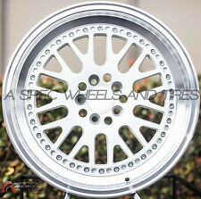 17X9 ROTA FLUSH WHEELS 5X100 WHITE RIMS FITS SUBARU WRX 2001-2012