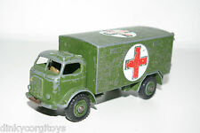 DINKY TOYS 626 BEDFORD MILITARY AMBULANCE ARMY GOOD