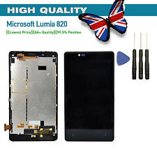 For Nokia Lumia 820 N820 Display LCD Screen Touch Screen Digitizer + Frame