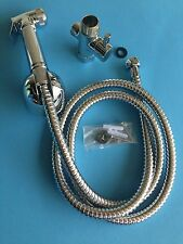 "HandHeld Bidet Shower Head Bathroom Spray 7/8"" T-adapter Full Set Shattaf MB-551"