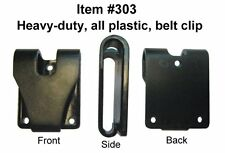 (2) TWO PACK, 303 Black Plastic Belt Clip, Perfect solution for IWB holsters