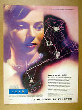 1957 Herbert Matter photo Leo the Lion constellation De Beers Diamonds print Ad