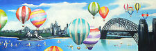 """BEST CITY IN THE WORLD """"SYDNEY BALLOONS"""" ART PAINTING PRINT"""