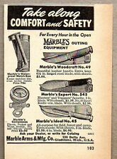 1950 Print Ad Marble's Outing Equipment Knives Knife Gladstone,MI