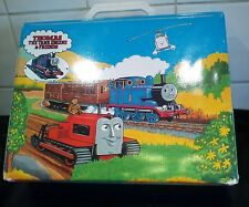 thomas the tank engine cassette tape carry case box with mixed story tapes