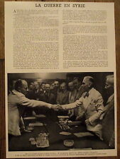 Article La guerre en Syrie,Saradjoglou,Von Papen,photo , 1941,clipping