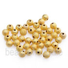 100/500pcs Silver Golden Stardust Copper Round Spacer Loose Beads 3/4/5/6mm Dia