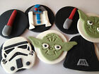 12 EDIBLE CUPCAKE TOPPERS CAKE DECORATIONS PARTY ENGAGEMENT 21ST 18TH STAR WARS
