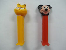 Garfield And Mickey Mouse Pez Candy Dispensers See Pictures!